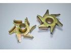 Крыльчатка водяного насоса (помпы) KM385BT (d-15 мм, металлическая)